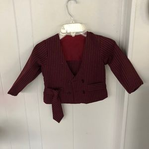 Toddler jacket with tie